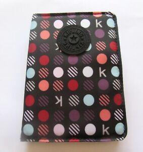 Kipling Silver K Multi Dots Case- purple red white black-polka dots -4 slots