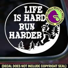 Run Hard Funny Ultramarathon Decal Sticker Marathon Ultra Car Window Bumper Sign