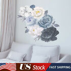 Us Self-adhesive Peony Flower Wall Stickers Diy Art Decal Home Decor Removable