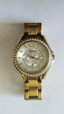 Fossil ES2421 Stainless Steel Gold Tone  Crystal Bezel