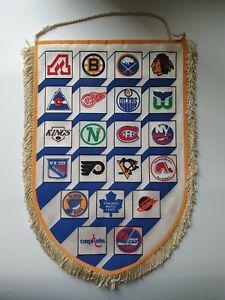 NHL Vintage National Hockey League Big Pennant Rare - With All Teams