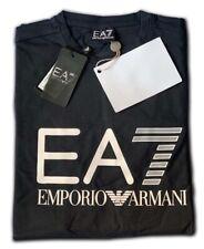 Men's EA7 Emporio Armani Crew Nack Short Sleeve T- Shirts Black Size: Large !!!