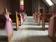 Wedding  Church Pew Ends Tulle Bows