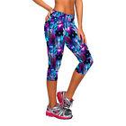 Waist Fitness Yoga Sport Pants Women Running Gym Stretch Capri 3/4 Leggings Best