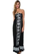 89300f6eae New  Ripcurl Sz L Maxi Long Dress Bikini Cover up Black White RV Strapless