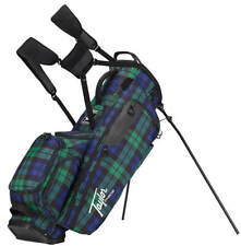 TaylorMade Lifestyle Flextech Stand Bag Blue Plaid Golf Carry Bag Clearance New