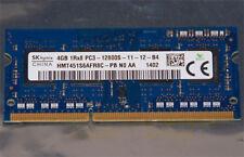 SK Hynix 4GB SODIMM DDR3 SDRAM Memory 204 Pin PC3-12800S 1Rx8 HMT451S6AFR8C-PB
