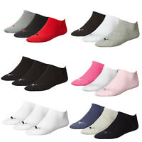 Puma Sports Socks Unisex Trainer Sneaker Invisible Socks (3 Pairs)