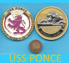 USS PONCE * Proud Lion * Navy Ship honoring City of Ponce PUERTO RICO 1971 2012