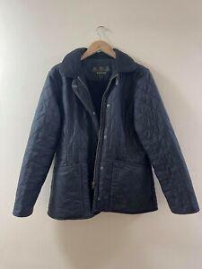 Barbour International Womens Quilted Black Jacket UK 12
