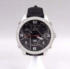 Jacob & Co. Five Time Zones Diamond Bezel Watch 2.75 Tcw