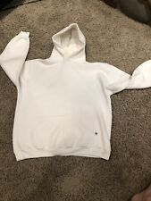 Vintage 90s Russell Athletic Blank Hoodie White USA L
