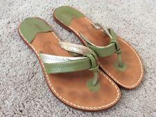 Stephen Bonanno Flip Flops Sandals Size 9 Green Silver