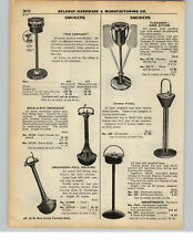 Reclamevoorwerpen Vintage Antique Smokador Tobacco Brushed Bronze & Black Round 8 Inch Ashtray