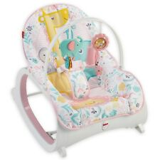 Fisher-Price Infant to Toddler Rocker, Pink Baby Girls Vibration Seat Chair