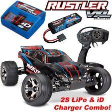 Traxxas Rustler VXL Brushless RTR RC Truck w/TSM, WALL CHARGER & 2S LIPO COMBO!!