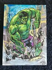Hulk Sketch Card (#1 of 1) - 2020 Skybox Marvel Masterpieces - Autographed