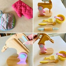 KidKraft Baking Accessories Set Pretend Play Kitchen Wooden Mixer