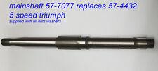 Triumph 5 Speed Gearbox 57-4432 57-7077 new main detención, nueva transmisión principal ola