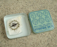 Vtg International Dial Co Metal Tin WITH WATCH PART Old MYSTERY Unknown