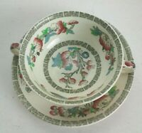 Vintage Johnson bros Double Handle cup and saucer Indian Tree England