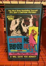 Color Me Blood Red VHS Rare 1984 SOMETHING WEIRD VIDEO HG Lewis Working