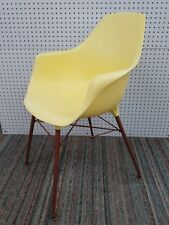 Vtg Mid Century Modern Molded Plastic Shell Chair Eames Style  Alladin