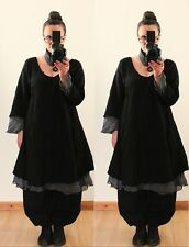 FLOATY FAIRY LONG TUNIC DRESS Plus Size  18 20 22 Gothic Vintage Lagenlook Baggy
