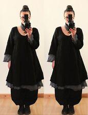 FLOATY FAIRY LONG TUNIC LINEN DRESS Plus Size 18 20 22 Gothic Lagenlook US