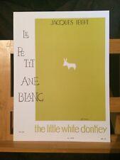 Jacques Ibert le petit âne blanc transcription flute et piano partition Leduc
