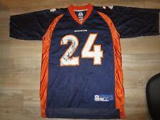Champ Bailey #24 Denver Broncos NFL Reebok Football Jersey LG L mens