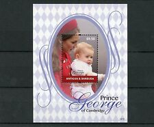 Antigua & Barbuda 2014 MNH Prince George of Cambridge 1v S/S II Royalty Stamps