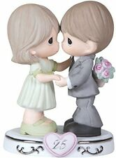 Wife Gift, 25th Anniversary,Bisque Porcelain Figurine,Couple Celebration Present