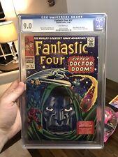 Fantastic Four #57 CGC 9.0 NM OW 1966 Dr Doom Silver Surfer Marvel Comics