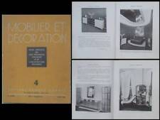 MOBILIER ET DECORATION AVRIL 1936 MAURICE DUFRENE, MAX INGRAND, SOLBJERG