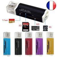 Lecteur USB 2.0 Carte Mémoire Adaptateur Micro SD SDHC TF M2 MMC MS PRO DUO