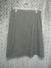 Necessary Objects Skirt Size L Black and White Checkered Elastic Waist Casual