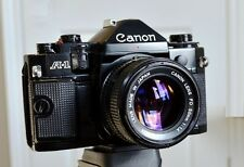 Canon A-1 A1 Camera with 50mm f/1.4 Lens Good Conditions Clean Camera and Lens!
