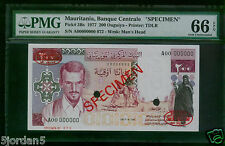 Mauritania 200 Ouguiya Unissued P3BS PMG 66 GEM UNC   EXTREMELY  RARE