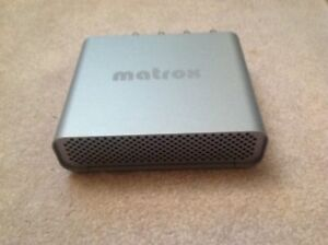 MATROX MXO PORTABLE BROADCAST QUALITY AUDIO VIDEO OUTPUT ADAPTER FOR MACINTOSH