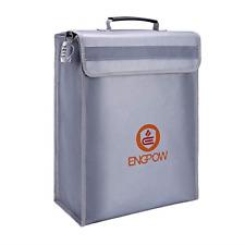 ENGPOW Large Fireproof Bag,Fireproof Lock Box Bag Document Bag Money Bag with