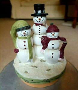 Christmas Yankee Candle Large Medium Jar Topper Snowman Winterberry