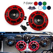 Pair 12V 118dB Car Truck Loud Compact Electric Blast Super Tone Hella Horn+Relay