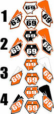 2003-2012 KTM SX85 SX 85 Number Plates Side Panels Graphics Decal