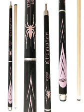 Champion Spider Billiards Maple Pool Cue Stick (Pink,white,blue), Billiard Glove