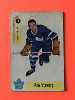 Ron Stewart 1958-59 Parkhurst Hockey Card #14 Toronto Maple Leafs