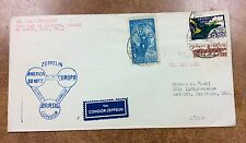 {BJ Stamps} 1933 Brazil  Zeppelin Condor Chicago fligh cover to Detroit Si. 239A