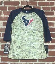 Nike Women's Salute To Service Houston Texans Dri-Fit 3/4 Sleeve Raglan Size L