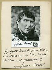 Jean Gras (1927-1998) - Acteur français - Rare photo dédicacée 2x - Années 60