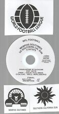 Original WFL Radio Broadcast on CD - Memphis Southmen vs So Cal Sun - 1975